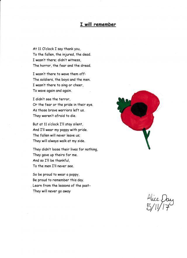 Poppy poem
